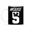PRINTFASHION Mouse 5 - Bögre - Fekete