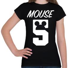 PRINTFASHION Mouse 5 - Női póló - Fekete