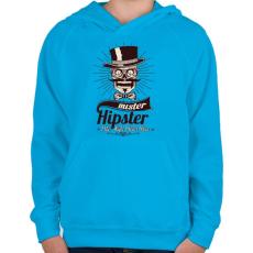PRINTFASHION Mr. Hipszter - Gyerek kapucnis pulóver - Azúrkék