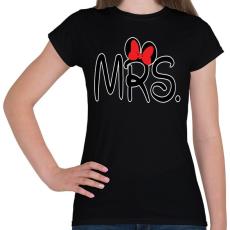 PRINTFASHION MRS. - Női póló - Fekete