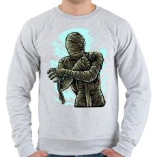 PRINTFASHION Múmia - Férfi pulóver - Sport szürke