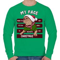 PRINTFASHION My face - Férfi pulóver - Zöld