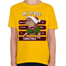PRINTFASHION My face - Gyerek póló - Sárga