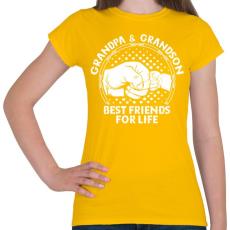 PRINTFASHION Nagyapa - Női póló - Sárga