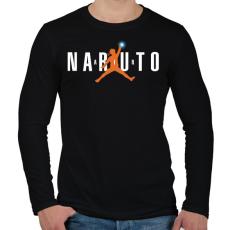 PRINTFASHION Naruto Air - Férfi hosszú ujjú póló - Fekete
