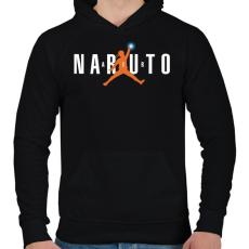 PRINTFASHION Naruto Air - Férfi kapucnis pulóver - Fekete