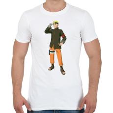 PRINTFASHION Naruto - Férfi póló - Fehér