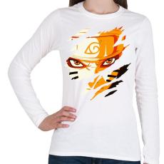 PRINTFASHION Naruto Kyubi Mode - Női hosszú ujjú póló - Fehér