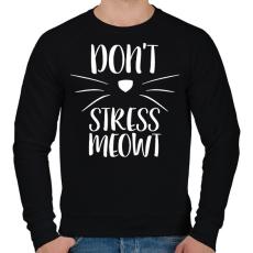 PRINTFASHION Ne idegeskedj miau - Férfi pulóver - Fekete