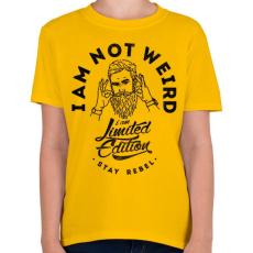 PRINTFASHION Nem vagyok furcsa - Gyerek póló - Sárga