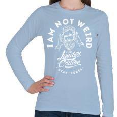 PRINTFASHION Nem vagyok furcsa - Női hosszú ujjú póló - Világoskék