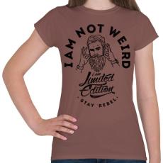 PRINTFASHION Nem vagyok furcsa - Női póló - Mogyoróbarna