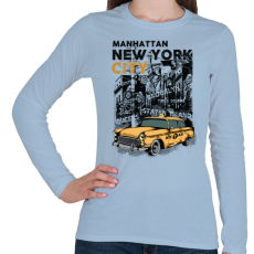 PRINTFASHION New York City - Női hosszú ujjú póló - Világoskék