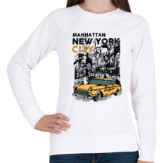 PRINTFASHION New York City - Női pulóver - Fehér