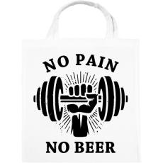PRINTFASHION Nincs fájdalom, nincs sör - Vászontáska - Fehér