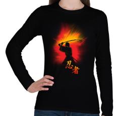 PRINTFASHION Nindzsa küldetés - Női hosszú ujjú póló - Fekete