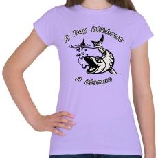 PRINTFASHION Nő mentes nap - Női póló - Viola