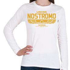 PRINTFASHION Nostromo  - Női hosszú ujjú póló - Fehér