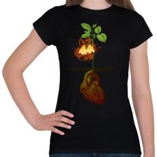 PRINTFASHION Növény világ - Női póló - Fekete