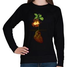 PRINTFASHION Növény világ - Női pulóver - Fekete