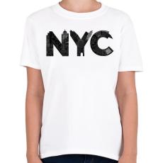 PRINTFASHION NYC - Gyerek póló - Fehér