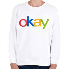 PRINTFASHION OKAY - Gyerek pulóver - Fehér