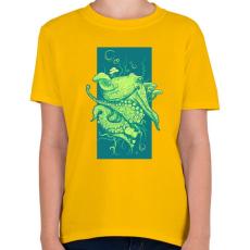 PRINTFASHION Oktopusz - Gyerek póló - Sárga