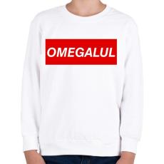 PRINTFASHION OMEGALUL - Gyerek pulóver - Fehér