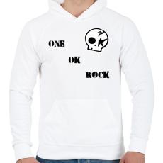 PRINTFASHION One Ok Rock - Férfi kapucnis pulóver - Fehér