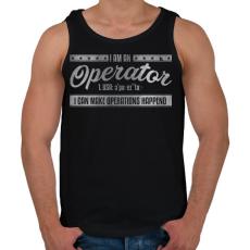 PRINTFASHION Operator - Férfi atléta - Fekete