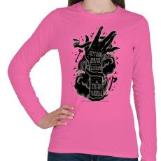 PRINTFASHION Ordíts a világba - Női hosszú ujjú póló - Rózsaszín