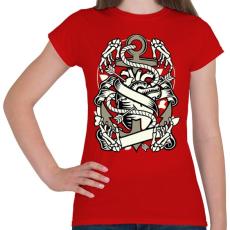 PRINTFASHION Örök szerelem - Női póló - Piros