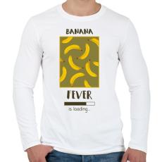 PRINTFASHION Örökké banán - Férfi hosszú ujjú póló - Fehér