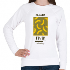 PRINTFASHION Örökké banán - Női pulóver - Fehér