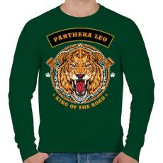PRINTFASHION Oroszlán - Férfi pulóver - Sötétzöld