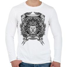 PRINTFASHION Oroszlán trón - Férfi hosszú ujjú póló - Fehér