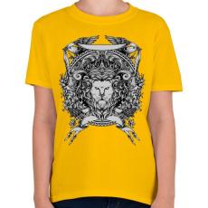PRINTFASHION Oroszlán trón - Gyerek póló - Sárga
