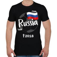 PRINTFASHION Oroszország - Férfi póló - Fekete