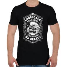 PRINTFASHION Őrült gördeszkás  - Férfi póló - Fekete