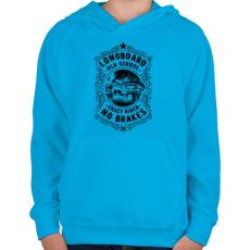 PRINTFASHION Őrült gördeszkás - Gyerek kapucnis pulóver - Azúrkék