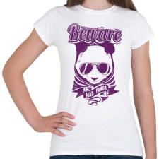 PRINTFASHION Őrült panda - Női póló - Fehér női póló