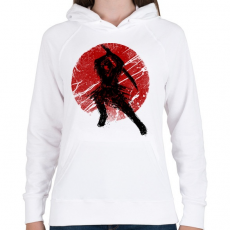 PRINTFASHION Ősi szamuráj - Női kapucnis pulóver - Fehér