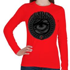 PRINTFASHION Ozirisz - Női hosszú ujjú póló - Piros