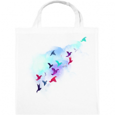 PRINTFASHION Paper birds - Vászontáska - Fehér
