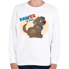 PRINTFASHION PAWer of love - kutyusos póló - Gyerek pulóver - Fehér