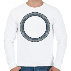 PRINTFASHION Pegazusi kapu - Férfi pulóver - Fehér