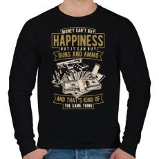 PRINTFASHION Pénz, fegyver, boldogság - Férfi pulóver - Fekete