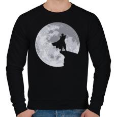 PRINTFASHION Piccolo - Férfi pulóver - Fekete