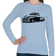 PRINTFASHION Pickup Truck - Női hosszú ujjú póló - Világoskék