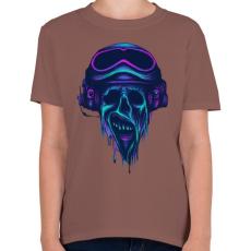 PRINTFASHION Pilóta zombi - Gyerek póló - Mogyoróbarna